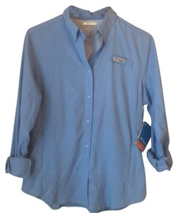Columbia Button Down Shirt Blue
