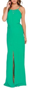 Green Maxi Dress by Lulu*s Backless Open Back Maxi