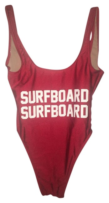 Item - Red Surfboard Surfboard Swimsuit One-piece Bathing Suit Size 4 (S)