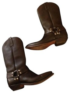 Mordo Harness Cowboy Riding Horse Vintage Chocolate Brown Boots