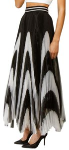 Alice + Olivia Maxi Skirt Black and White