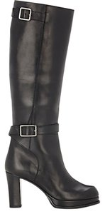 Acne Studios Knee High Luxury Leather Made In Italy Classic Black Boots