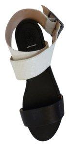 Vince Camuto Black & White Color block Sandals