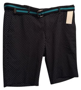 Uniqlo Bermuda Shorts Navy with White Polka Dots