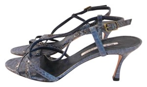 Manolo Blahnik 39.5 Chanel 39.5 Valentino 39.5 Saint Laurent 39.5 Jimmy Choo 39.5 Blue Sandals