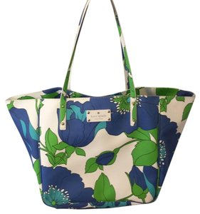Kate Spade Blue, Green, White Beach Bag