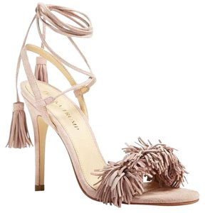 Ivanka Trump Wildthing Fringe Strappy Hettie Gold Sandals