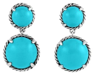David Yurman Chatelaine Double Drop Earrings with Turquoise