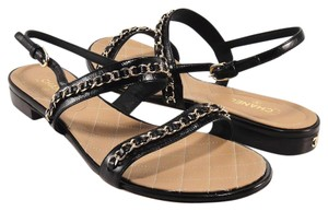 Chanel Classic Chain Black Sandals