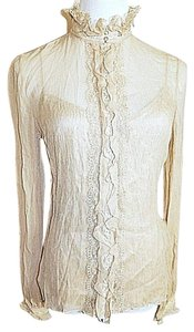 Elie Tahari Cami Set Nude Beige Silk Two Piece Top Beige Nude