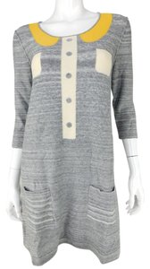 Sonia Rykiel short dress Grey/Yellow Cotton on Tradesy