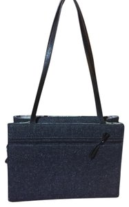 Kate Spade Charcoal Wool Leather Handbag Tote in Gray and Black