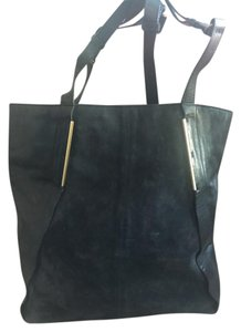 Lanvin Designer Suede Tote in blue / black
