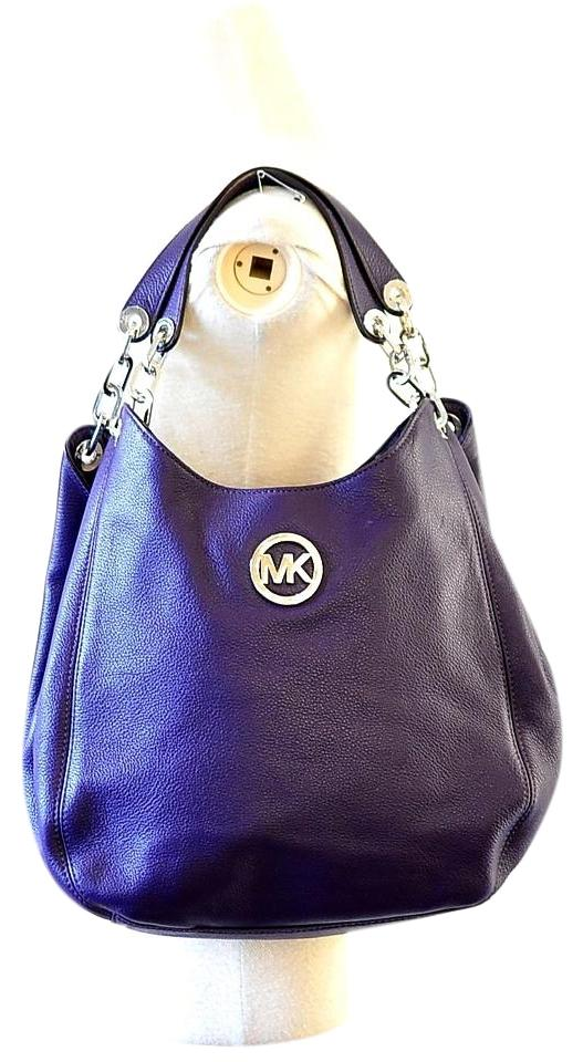 6de238a5ece6 Michael Kors Fulton Tote Purple Leather Hobo Bag - Tradesy