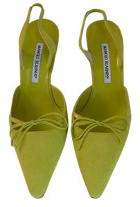 Manolo Blahnik Manolo 39 Chanel 39 Prada 39 Valentino 39 Jimmy Choo 39 Green Pumps