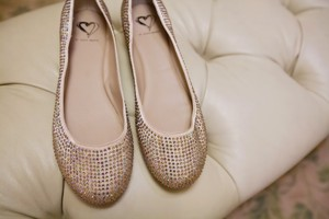 Steve Madden Ivory Ballerina Flat Sequins Formal Size US 10 Regular (M, B)