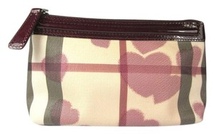 Burberry Red Nova Check Cosmetic Clutch