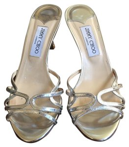 Jimmy Choo Silver Sandals