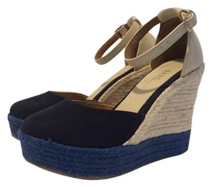 Other Navy and beige. Wedges