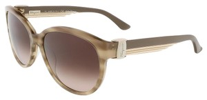 Salvatore Ferragamo Salvatore Ferragamo Striped Beige Butterfly Sunglasses