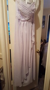 David's Bridal Light Lavender Bridesmaid Dress Dress