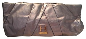 Halston Heritage Leather Metallic Clutch