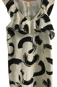 Anthropologie short dress Black and creme pattern on Tradesy