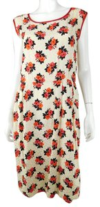 Saint Laurent Ysl Silk Floral Midi Vintage Dress