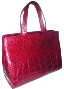 Gianfranco Ferre Satchel in Burgundy