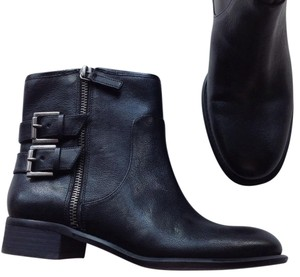 Nine West Leather Ankle Zip black Boots