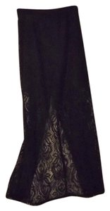 Joe Benbasset New Lace Maxi Maxi Skirt Black