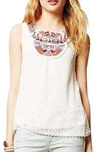 Anthropologie Top White with various colors