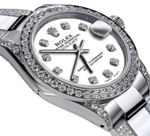 Rolex Ladies 26mm s/s Oyster Perpetual Datejust Diamonds Tone WhiteColor