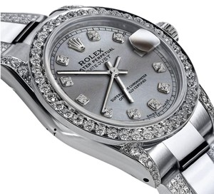 Rolex Women's 31mm s/s Oyster Perpetual Datejust Diamond Grey Color Dial