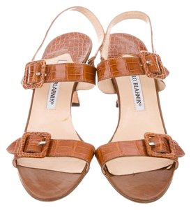 Manolo Blahnik 39.5 Chanel 39.5 Valentino 39.5 Saint Laurent 39.5 Prada 39.5 Brown Sandals