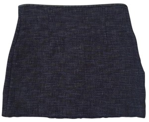 Zara Mini Skirt Blue and black crosshatch