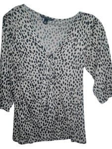Banana Republic Chic Rayon Top animal print