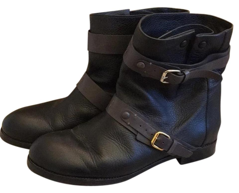 Chloé Black with Charcoal Grey Boots/Booties Moro Boots/Booties Grey 8506f2