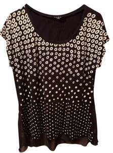 Other Top Navy blue, white polka dot