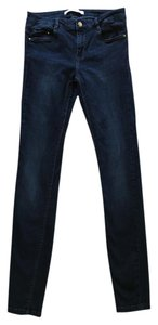 Zara Cigarette Skinny Stretch Denim Skinny Jeans-Dark Rinse