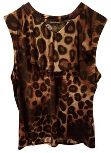 Susan Lawrence Top Black, brown, tan
