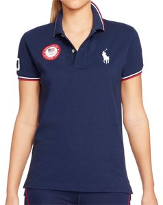 Ralph Lauren Usa Polo Blue Team Usa T Shirt Navy