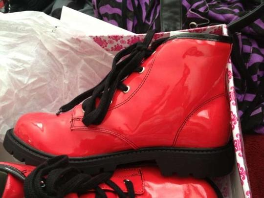 Wanted Bright Red Boots
