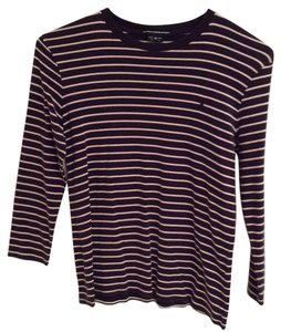 Ralph Lauren T Shirt Navy with pink stripes