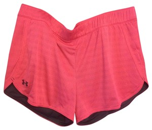 Under Armour Pink & Gray Shorts