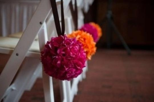 Pink and Orange Kissing Balls Ceremony Decoration