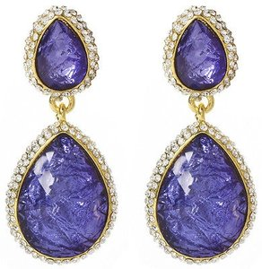 Amrita Singh Amrita Singh Real Housewives Violet Camellas Tears Crystal Earrings Erc 3022