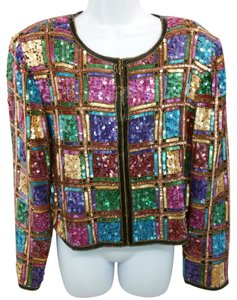 Laurence Kazar Lawrence Multicolor Top
