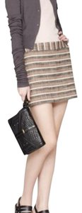 Theory Mini Skirt Beige , black, white