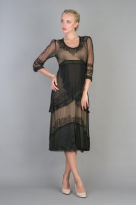 Nataya Black/Coco Nataya Vintage Style Wedding Dress Black With Gold/coco Dress